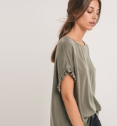 Promod Top with lace-up back