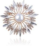 TAGOO Tulip Fox Brooches Pins Scarf Clips Unisex for Women&Men Wedding/Dailywear/Banquet