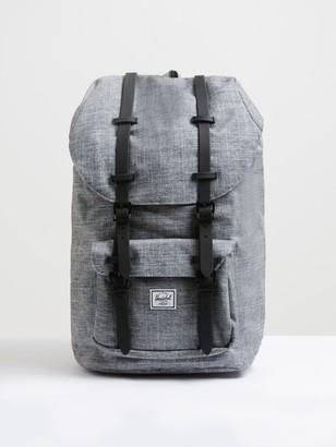 Herschel Unisex Little America Backpack in Grey Crosshatch