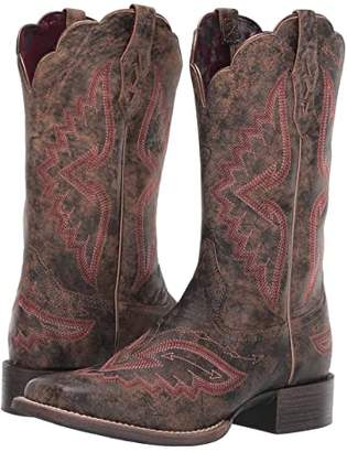 Ariat Round Up Santa Fe (Distressed Truffle) Cowboy Boots
