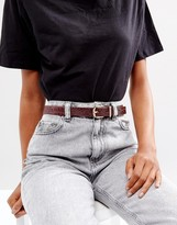 Pieces Rounded Buckle Belt