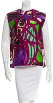 Balenciaga Printed Sleeveless Top
