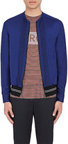 Lanvin Men's Twill Zip-Front Shirt-BLUE