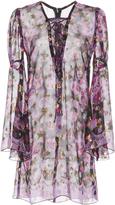 Anna Sui Metallic Clipped Jacquard Dress