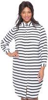 ELOQUII Plus Size Studio Striped Button Down Dress