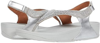 FitFlop Skylar Crystal Toe Thong (Silver) Women's Shoes