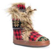 Muk Luks Women's Juno Knit Boot Slippers