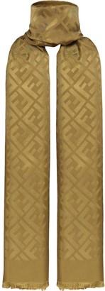 Fendi FF motif silk scarf