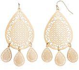 Lauren Conrad Filigree Teardrop Earrings
