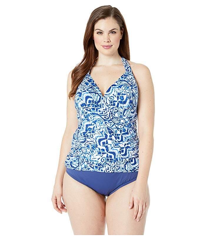 8822c7d1f0526 Lauren Ralph Lauren Plus Size Swimsuits - ShopStyle