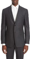 Z Zegna Men's Trim Fit Check Wool Sport Coat