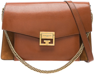 Givenchy Medium Leather GV3 in Chestnut | FWRD