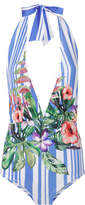 Rococo Sand Halter Blossom One Piece Swimsuit