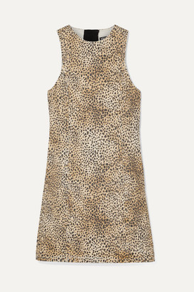 Alexander Wang Leopard-print Denim Mini Dress - Leopard print