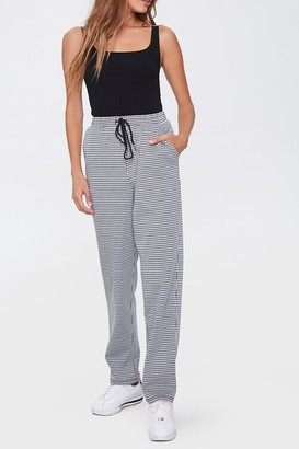Forever 21 Houndstooth Wide-Leg Pants