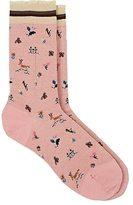 Antipast Women's House-Motif Wool-Blend Trouser Sock