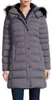 Andrew Marc Gayle Fox Fur-Trim Down Puffer Coat