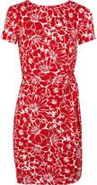 Diane von Furstenberg Zoe printed cotton and silk-blend mini dress