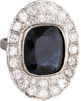 Ring Cushion Cut Sapphire & Diamond