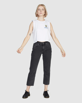 Quiksilver Womens Cropped Baggy Jeans
