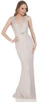 Terani Couture Sleeveless V Neck Long Dress 1612GL0501B