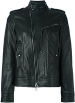 Diesel Black Gold zipped biker jacket - women - Lamb Skin/Polyester/Rayon - 38