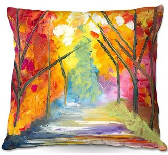"East Urban Home The Road Less Traveled Throw Pillow Size: 20"" H x 20"" W x 5"" D"