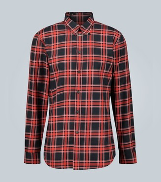 Givenchy Tartan shirt with piercing jewelry