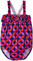 Hatley Graphic Lifesavers Ruffle Swimsuit (Baby) - Blue - 18-24 Months