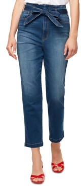 Sanctuary Modern Standard Belted Cropped Jeans