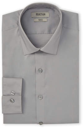 Kenneth Cole Reaction Gris Slim Fit Stretch Dress Shirt