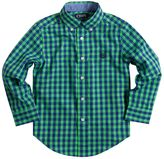 Chaps Toddler Boy Long Sleeve Button-Down Gingham Plaid Shirt