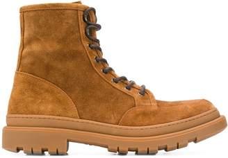 Brunello Cucinelli suede work boots