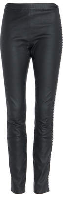 Haider Ackermann Embroidered Leather Leggings Size: 42