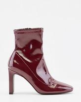 Le Château Stretch Patent Faux Leather Sock Boot