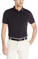 J. Lindeberg Men's Kv Regular Fit Tx Jersey Golf Polo Shirt, White