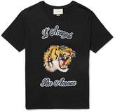 Gucci Embellished Cotton-Jersey T-Shirt