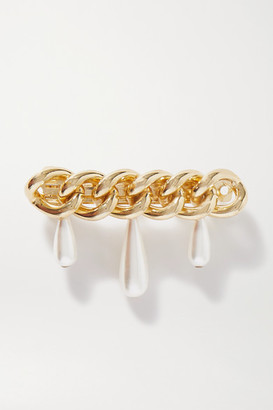 Rosantica Canasta Faux Pearl-embellished Gold-tone Hair Clip - one size