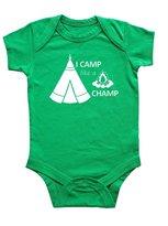 "Rocket Bug ""I Camp Like a Champ"" Baby Bodysuit (12-18 months, )"