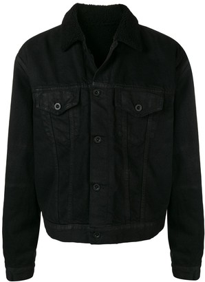 Unravel Project Buttoned Fur Collar Jacket