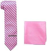 U.S. Polo Assn. Men's Striped Tie, Pocket Square And Tie Bar Set