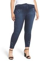 Melissa McCarthy Splattered Pencil Leg Jeans (Spike) (Plus Size)