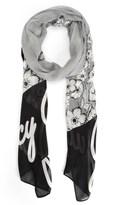 Juicy Couture Herringbone Floral Scarf