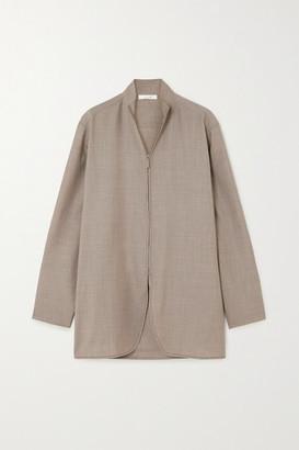 The Row Zana Wool Shirt - Beige