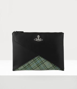 Vivienne Westwood Aran Pouch Green/Black