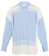Comme Des GarÇons Shirt Oversized Contrast-panel Cotton Shirt
