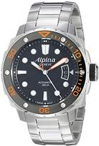 Alpina Men's AL-525LBO4V26B Seastrong Diver 300 Analog Display Automatic Self Wind Silver Watch