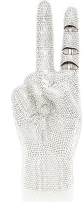 Judith Leiber War And Peace Crystal Crossbody Clutch Bag
