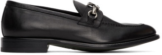 Etro Black Pegaso Loafers