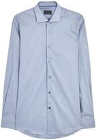 Pal Zileri Blue Printed Cotton Shirt